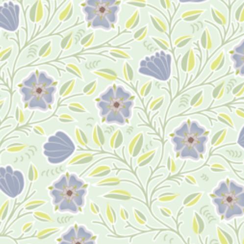 Tudor Rose - blue & mint
