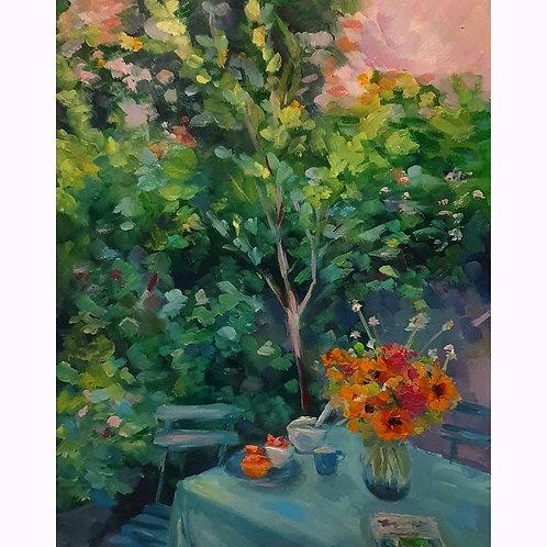 Day 8, Grapefruit & Sunflowers Print