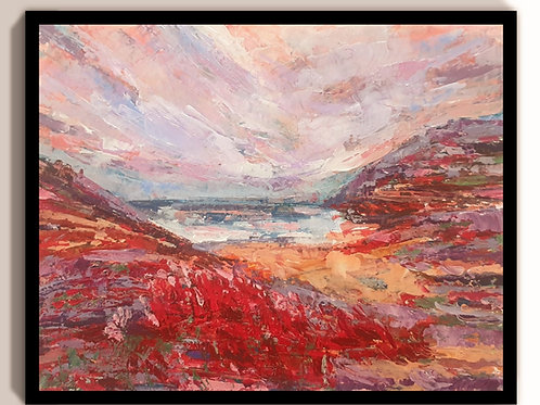 Ruby red seascape
