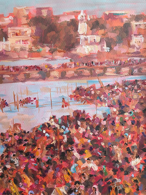 Crowd at the Ganges