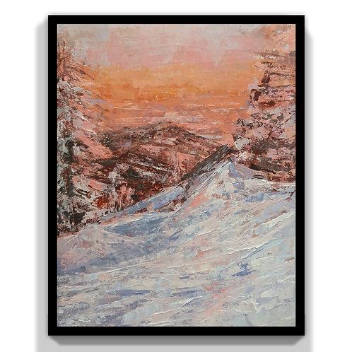 Skier's Sunset