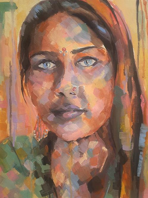 Rajhastani Woman print