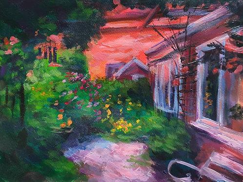 Day 7, Evening in the Garden Print