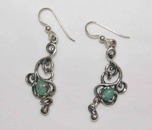 Large Victorian with Stone Earrings