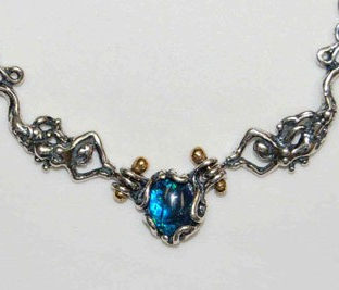 Two Mermaids Necklace