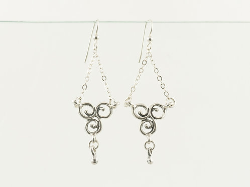 Triskelion Chandelier Earrings