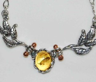 Two Leaf Necklace