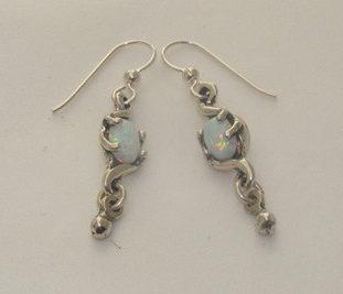 Mobius Earrings with Drop
