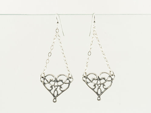 Celtic Heart Chandelier Earrings