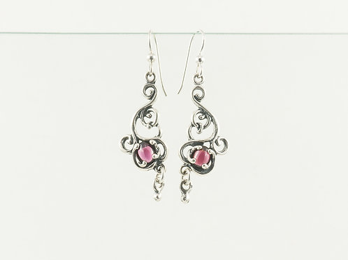 Victorian Earrings with Stone