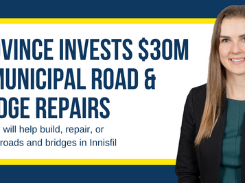 Province Invests $30 Million in Municipal Road and Bridge Repairs