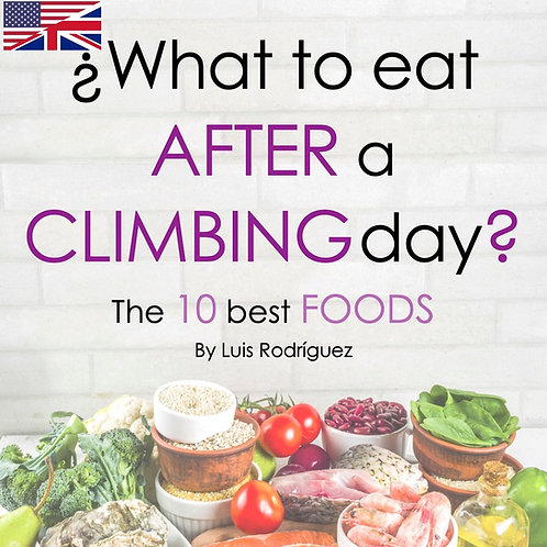 What to eat AFTER a CLIMBING day - English