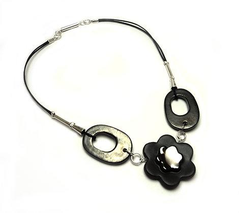 collier,chic,fleurs,métal,céramique,terre cuite,créateur,lyon,anneaux