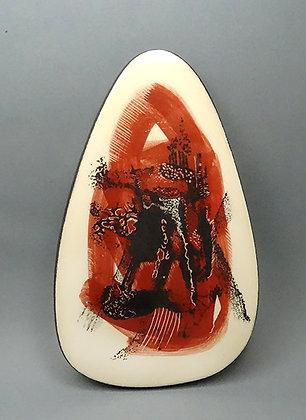 petit carreau déco en céramique artisanale de créateur peint à la main
