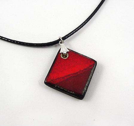 perle de pendentif géométrique rouge bordeaux bijou pour femme