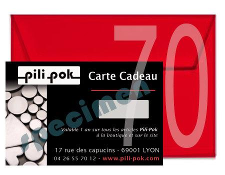 carte cadeau cheque cadeau 70 euros boutique pili pok ceramiques