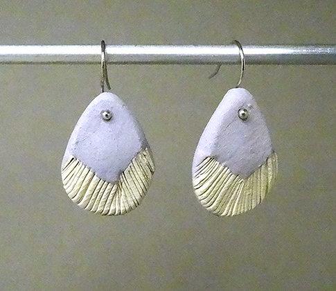 paire de boucles d'oreilles femmes en tere cuite bijou créateur cadeau original