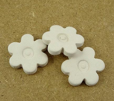 supports en céramique diffuseurs d'huiles essentielles forme fleur blanche