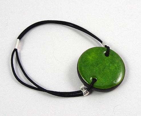 bracelet rond vert en céramique pour femme ou homme
