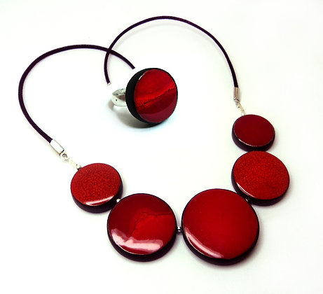 parure rouge femme cadeau saint-valentin bijoux de créateur