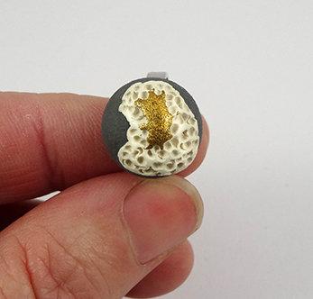 bague corail coquillage gris doré or blanc mousse céramique