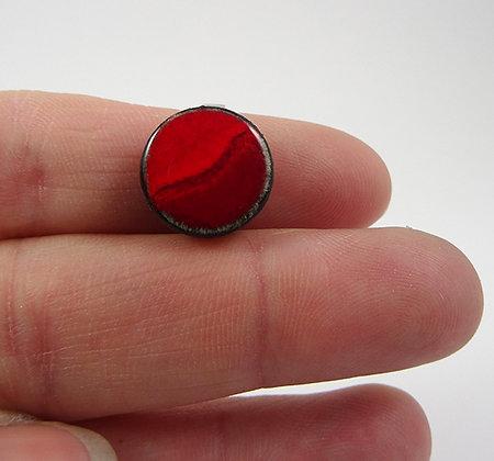 tres petite bague rouge ronde en ceramique bague reglable