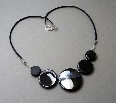 collier rond chic cadeau femme argenté en céramique créateur