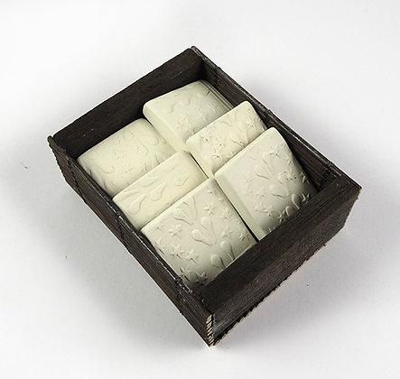 boite de diffuseurs d'huiles essentielles carrés blanc en céramique poreuse