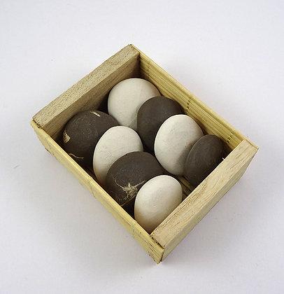 diffuseurs d'huiles essentielles en céramique Galets ronds blanc brun