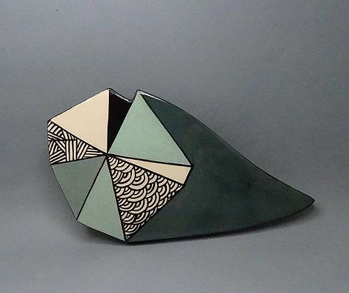 carreau céramique style carreau de ciment peint à la main géométrique