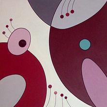 peinture acrylique céramique tableau graphique coloré pili-pok
