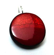bijou en céramique rouge pili boucle femme made in france