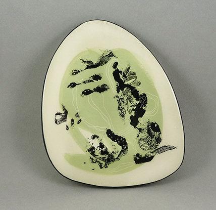 carreau décoratif illustré en céramique peint à la main design Pilipok france