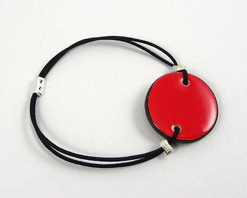 bracelet rond coloré orange rouge élastique réglable