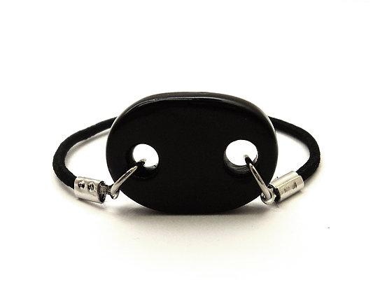 Bracelet ovale noir ajouré en céramique pour homme femme