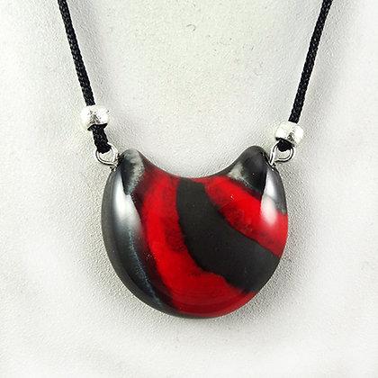 collier en céramique rouge plastron chic bijou femme créateur Lyon