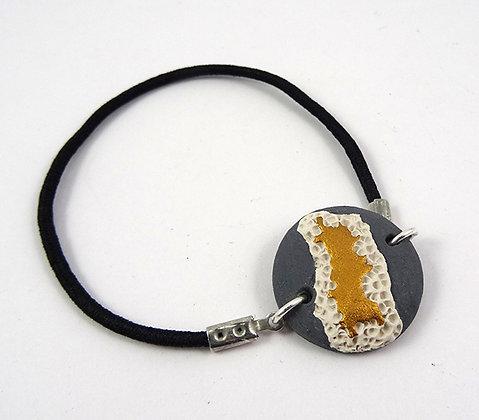 bracelet rond doré gris blanc pour femme homme en céramique