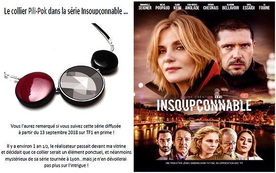 bijoux createur pili-pok serie tv insoupconnable tf1