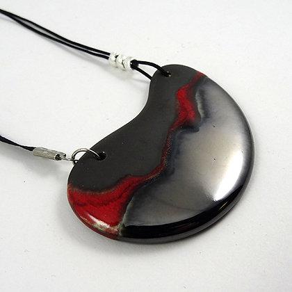 collier chic rouge argent pour femme bijou ceramique brillant