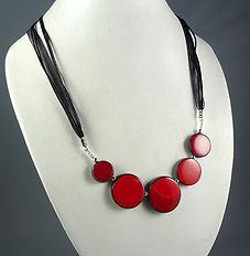 collier rouge pour femme bijou en céramique créateur Pili-Pok