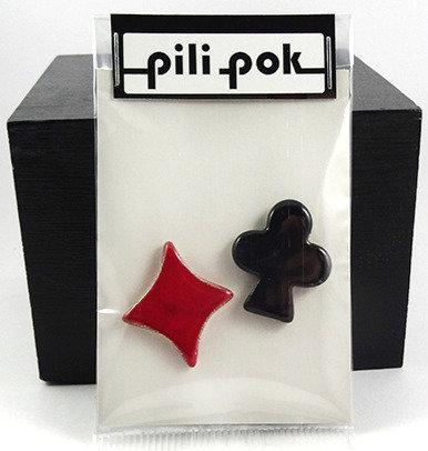 Fèves artisanale pour épiphanie jeu carreau treffle en céramique