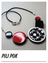 collier ceramique bijou createur rouge pili-pok Lyon