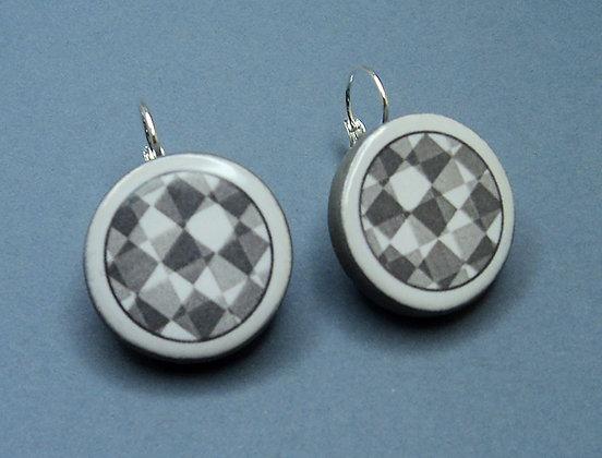 boucles d'oreilles contemporaines de créateur en céramique