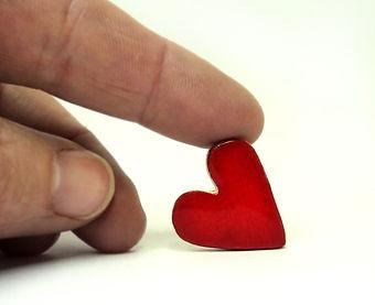 feve ceramique coeur rouge createur pili-pok lyon