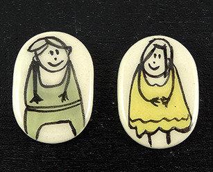 fève galette des rois illustration roi reine fève céramique artisanale
