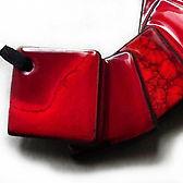 collier rouge en ceramique bijou createur pili-pok france