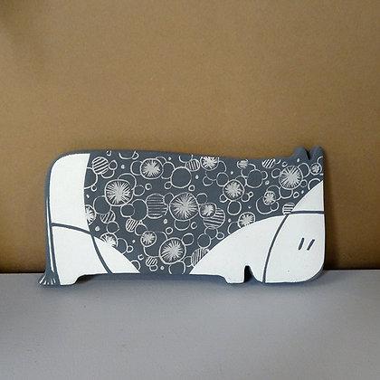 Animal en relief petite vache graphique noir et blanc à poser ou coller