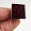 Thumbnail: Bague en céramique carrée rouge bordeaux bague réglable femme