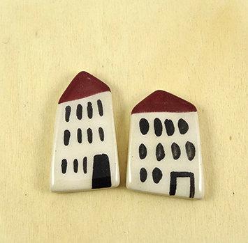 les fèves de la croix-rousse maisons immeubles en céramique artisanale