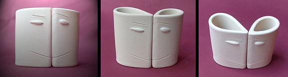 sculpture modelages céramique têtes blanches design contemporain pili-pok